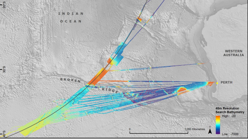 The 710,000 square kilometre  seafloor search is one of the largest marine surveys ever conducted. (ATSB)