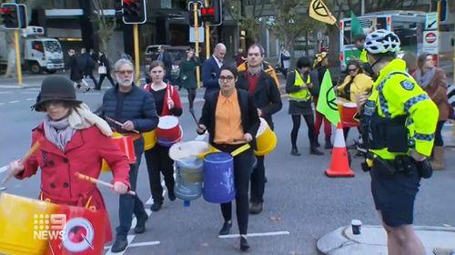 Extinction Rebellion cherry picker protest Perth