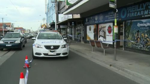 The robbers targeted the High Street business about 11am yesterday. (9NEWS)
