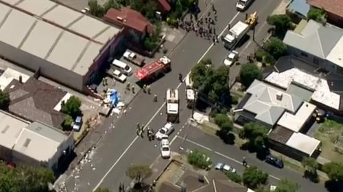 Aerial images capture the aftermath of the explosion.