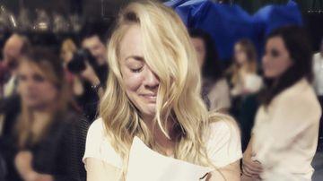 Kaley Cuoco shares tearful photo after reading final 'Big Bang Theory' script