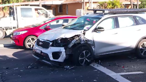 Police will allege the man and woman then stole a silver Kia from a nearby property, rammed a police car and fled north on the M1.