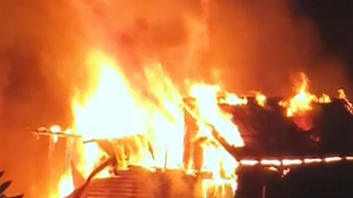 Eastwood shed fire