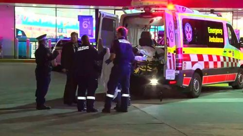 The two victims were targeted by the unknown shooter in Merrylands, before they drove to a nearby petrol station to seek help. Picture: 9NEWS.