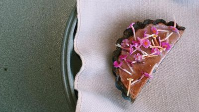 PIE: dried scallops and lantana flowers. (Instagram/janous)