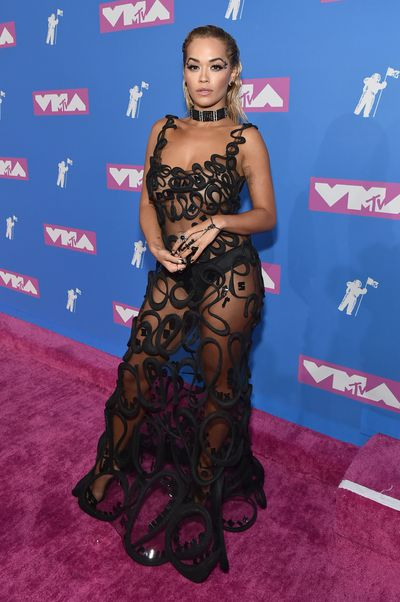 Rita Ora in Jean Paul Gaultier at the 2018 MTV Video Music Awards