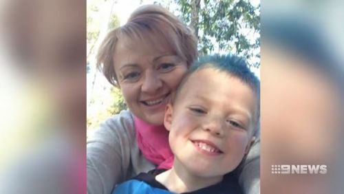 Julie Bullock and her son Hudson were killed in the crash.