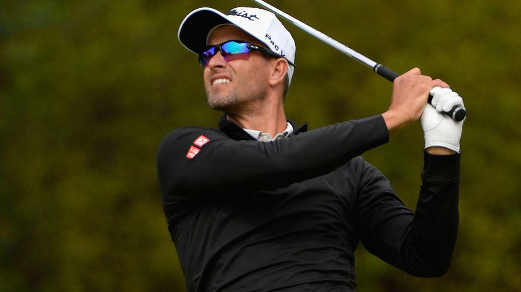 Golfer Scott Announces Wifes Pregnancy Nine Wide World Of Sports