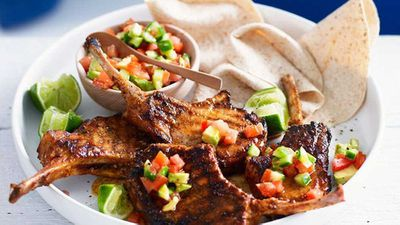 "Recipe: <a href=""http://kitchen.nine.com.au/2016/05/16/19/32/mexican-pork-cutlets-with-avocado-salsa"" target=""_top"">Mexican pork cutlets with avocado salsa</a>"