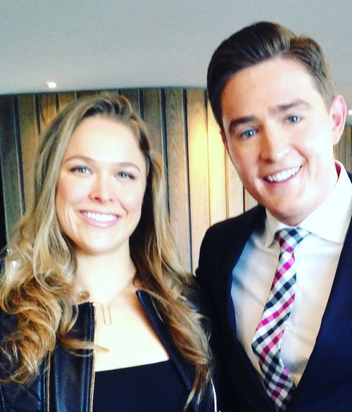 Rousey and 9NEWS reporter Seb Costello. (9NEWS)