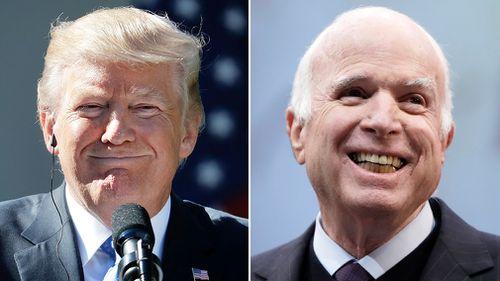 US President Donald Trump and Senator John McCain had a long-running feud.