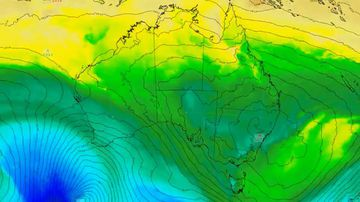 Warm weather is coming from Australia's southeast.