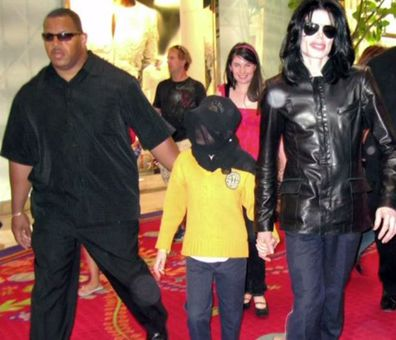 Michael Jackson with his bodyguard Bill Whitfield