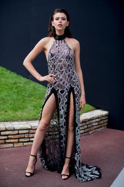 Georgia Fowlerat the amfAR Gala, Cannes 2017