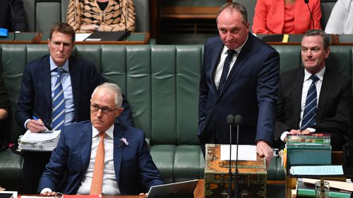 Prime Minister Malcolm Turnbull has once again backed his deputy, Barnaby Joyce, amid mounting political pressure over a possible breach of the Ministerial Code of Conduct (AAP).