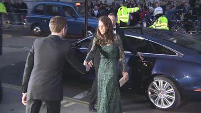 Duchess Kate attends Portrait Gala in green lace