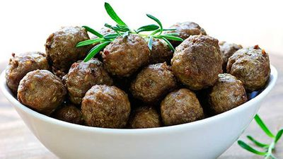Atkins spicy meatballs