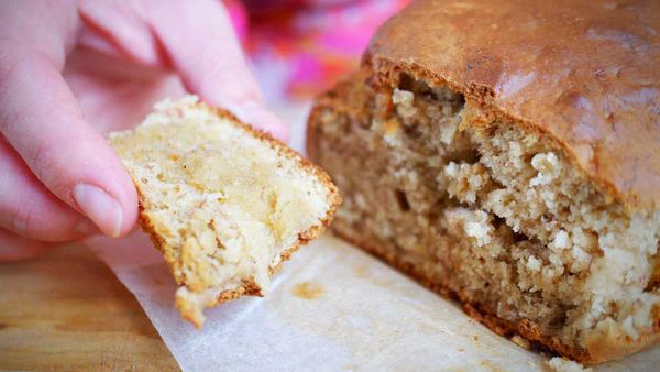 Easy five-ingredient, five minute mix banana bread recipe