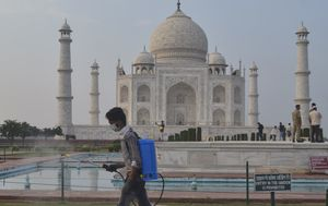 Taj Mahal reopens in India despite massive surge in virus cases
