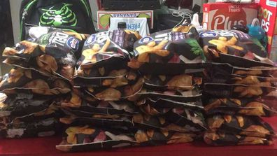 Family stocks up one deli chips