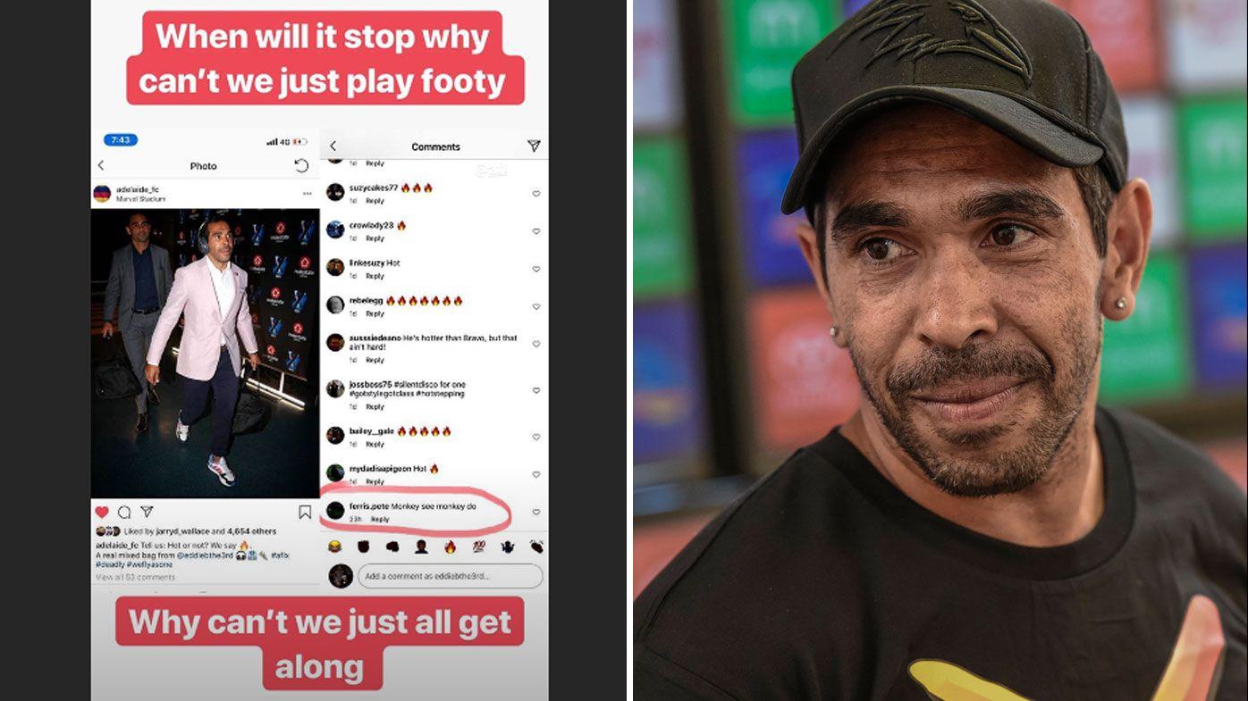 Adelaide back Eddie Betts after AFL legend cops shocking racist slur on social media
