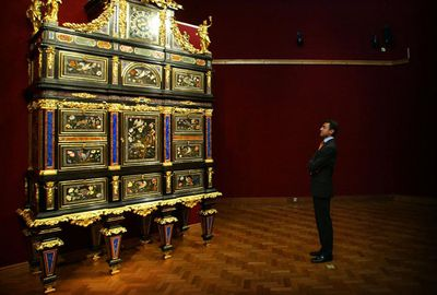 The Badminton cabinet fetched $40 million at auction. Pic: Getty