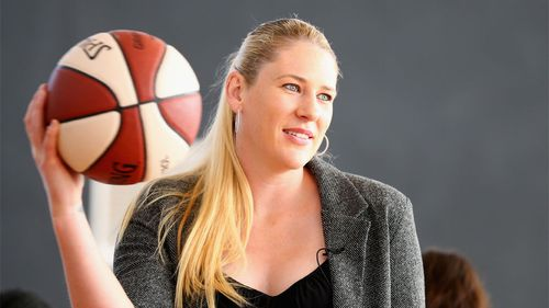 Jackson at the launch of the Lauren Jackson Basketball Academy in Melbourne. (Getty)