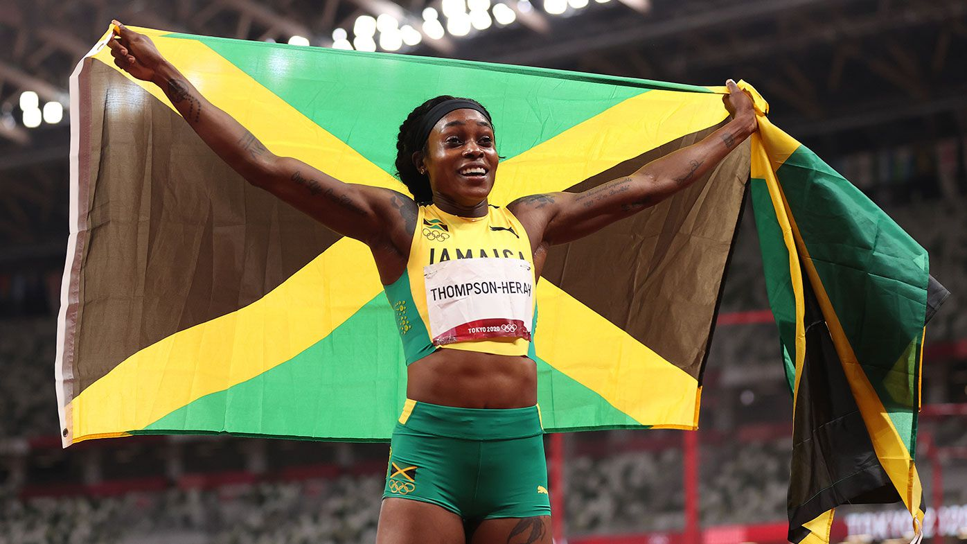 Jamaica's Elaine Thompson-Herah claims 100m-200m double for second straight Olympic Games