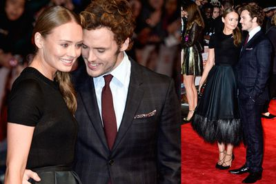Sam Claflin and his wife Laura Haddock had intense red carpet PDA at the premiere of <i>Love, Rosie</i>