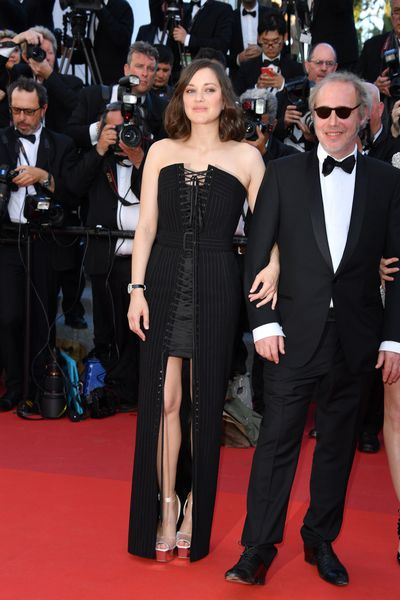 Actress Marion Cotillard in Jean-Paul Gaultier at the 2017 Cannes Film Festival