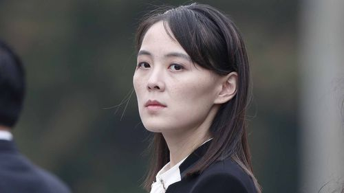 Kim Yo Jong, sister of North Korea's leader Kim Jong Un, attends wreath laying ceremony at Ho Chi Minh Mausoleum in Hanoi, March 2, 2019.