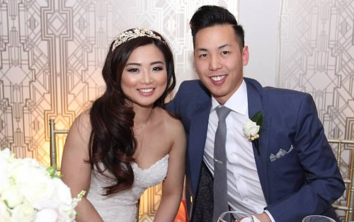 Ben Bui and Wendy Lam were left horrified on their wedding day after being served 'horrible food'. (Ben Bui)