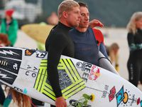 Paddle out tribute for 'Chumpy'