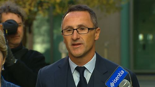 New Greens leader Richard Di Natale. (9NEWS)