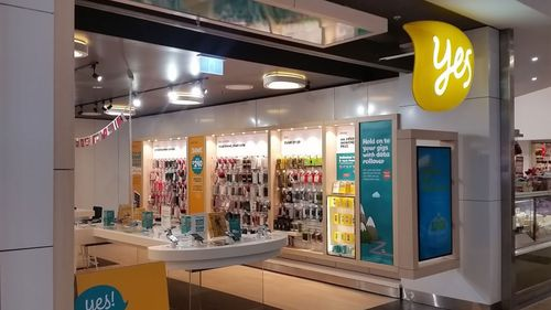 The Optus store in Casula Mall. (Supplied)