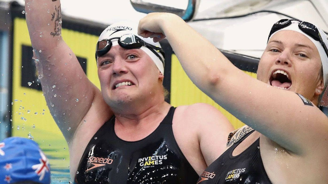 Swimmer's remarkable act of sportsmanship for teammate at Invictus Games
