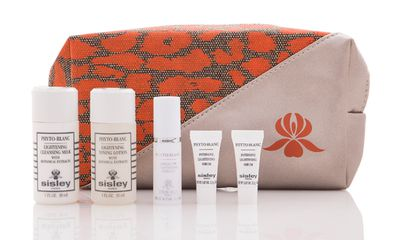 Sisley gift with purchase. Buy two skincare products and receive a six-piece Phyto-Blanc gift. Only available in store.