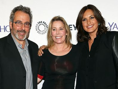 Warren Leight, Julie Martin and Mariska Hargitay attend the 2nd Annual Paley fest New York Presents: Law & Order: SVU at Paley Center For Media on October 13, 2014 in New York, New York.