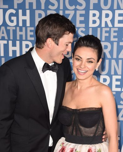 Mila Kunis with husband Ashton Kutcher