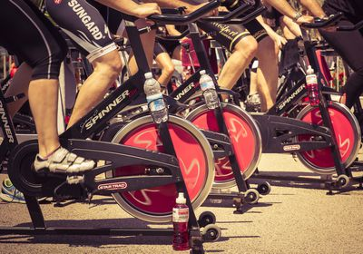 <strong>Spin class (15 minutes)</strong>