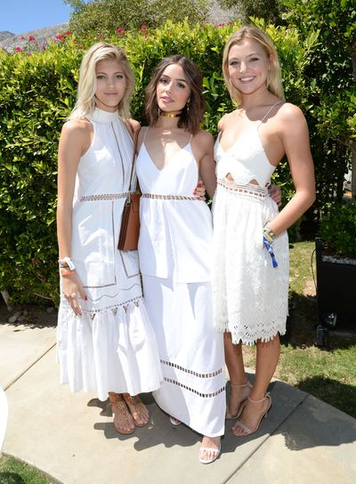 Devon Windsor, Olivia Culpo and Rachel Hilbert