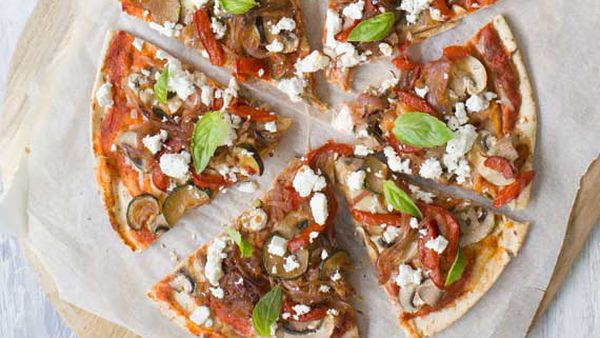 Nadia Lim's caramelised vegetable pizzas