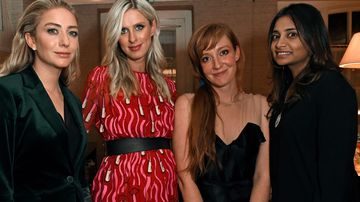Whitney Wolfe Herd, Nicky Rothschild, Kate Rothschild and Vanisha Mittal attend the Bumble Bizz launch hosted by Nicky Rothschild & Whitney Wolfe. (Getty)