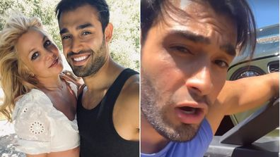 Britney Spears' boyfriend just got involved in a car accident.