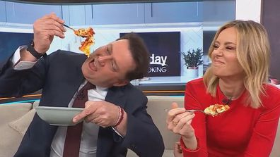 Karl Stefanovic went mad for the hash brown lasagne