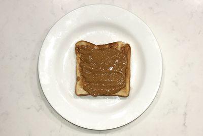 Peanut butter on toast: 205 calories