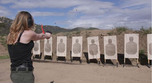 Piper Smith, Leader of the largest chapter of The Pink Pistols in San Diego. Picture: The Feed