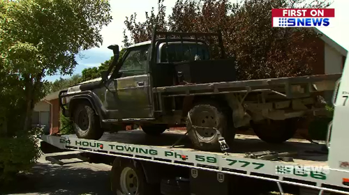 Police located the abandoned ute less than five kilometres from the Tyabb service station.