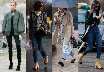 We're only 15 days into winter and if you're already feeling you've exhausted your wardrobe, join the club. But instead of hitting the shops for a new buy, take some time to reinvent what you already have. Here, we look to the streets to bring you four different ways of wearing your jeans. From DIY hack jobs to artful tucking, these street stylers prove a small change can add life to a weary winter closet.