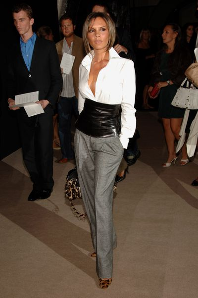 Victoria Beckham in Marc Jacobs at Jacob's S/S' 07 show in New York City, October 2006
